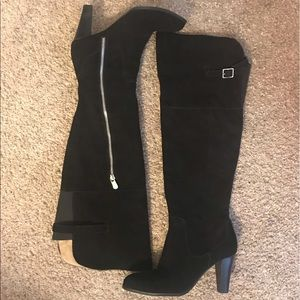 Adrienne Vittadini over-the-knee suede boots